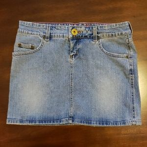 Juniors Denim Mini-skirt